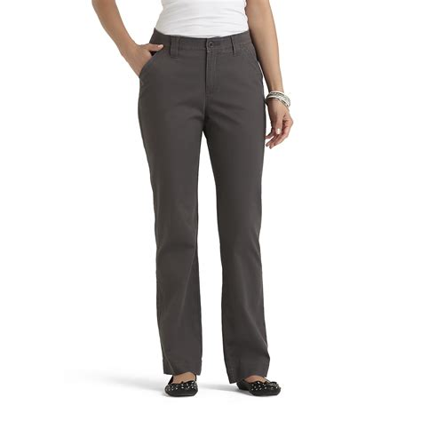 lee comfort fit comfort waist colored pants stretch cotton straight leg