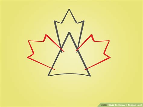 Canada Leaf Drawing how to draw a maple leaf 12 steps with pictures wikihow