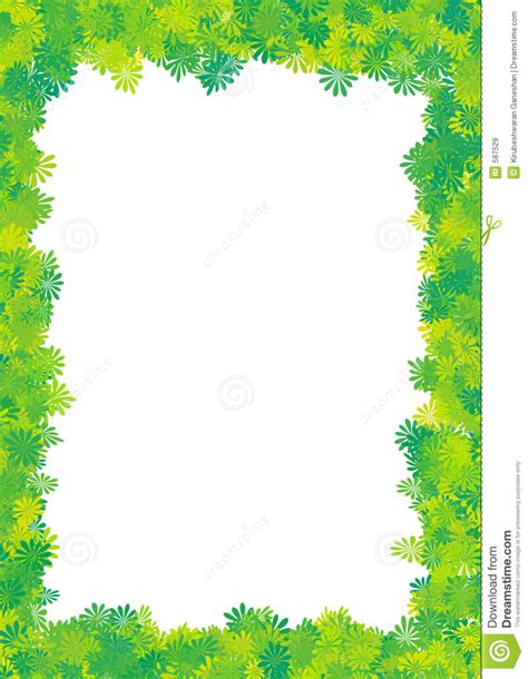 beautiful border stock illustration image  forest
