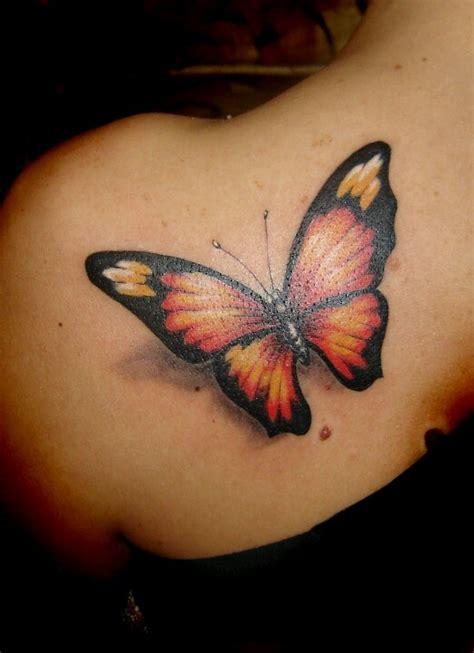 orange butterfly tattoo ideas pinterest