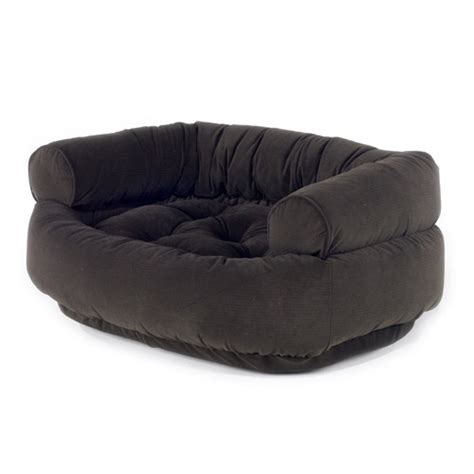 sofa dog beds microvelvet double donut dog bed by bowsers espresso