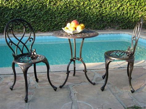patio table home styles 3pc high top bistro set marble