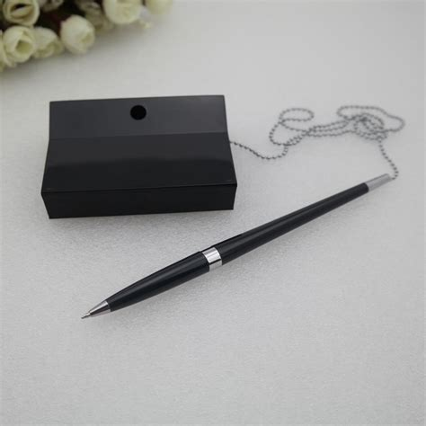 desk pens with chains factory price desk pen with chain ballpoint pen