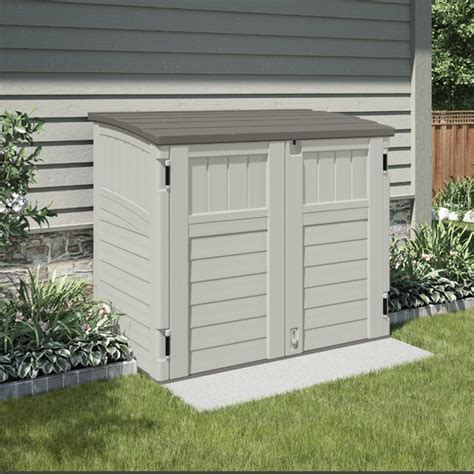 Resin Garden Shed Suncast Utility 4 5 Ft W X 2 7 Ft D Resin Storage Shed