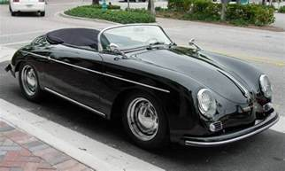 1956 Porsche 356 Speedster Replica Black 1956 Porsche 356 Speedster Aucton Results