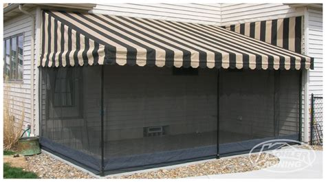 awnings with screens screens for patio awnings kohler awning