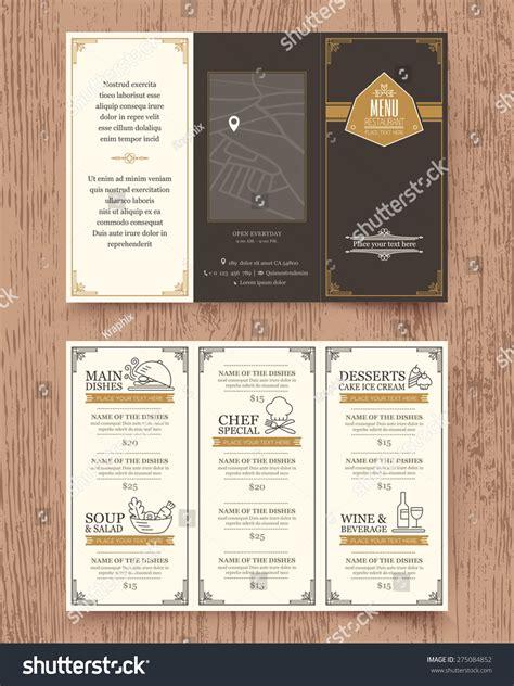 design menu vintage vintage restaurant menu design phlet vector stock