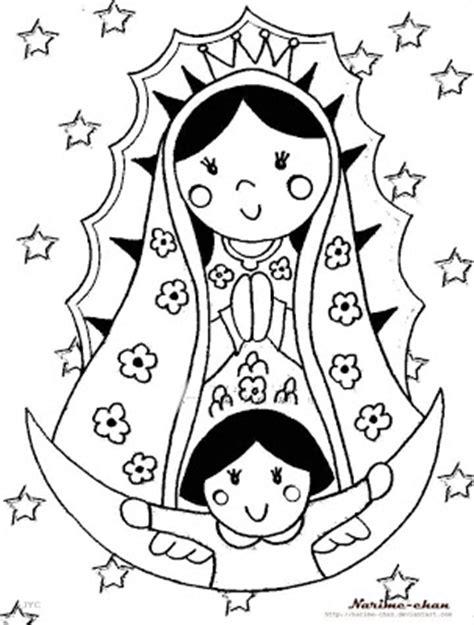 imagenes virgen de guadalupe dibujo dibujos infantiles de la v 237 rgen de guadalupe para colorear