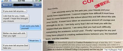 Apology Letter Assault Why Even Small Progressive Grinnell College Has Trouble Dealing With Sexual Assault On Cus