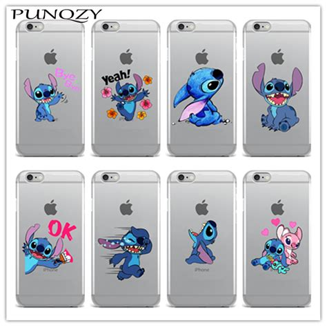 Casing Iphone 55s Stitch Silicon stitch emoji soft tpu clear silicon phone for iphone 6 6s plus se 5s 7 7plus 4 4s 5c