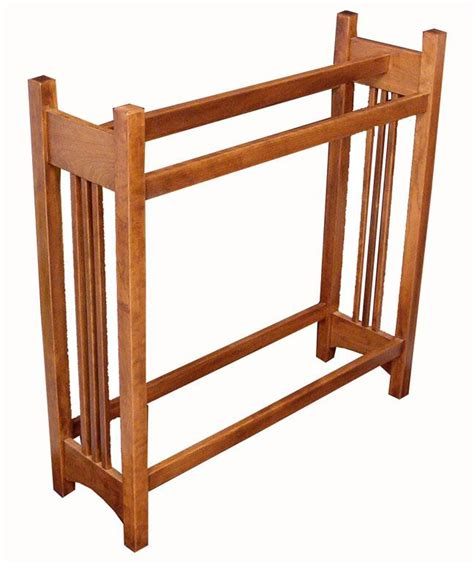 quilt racks amish hardwood mission quilt rack