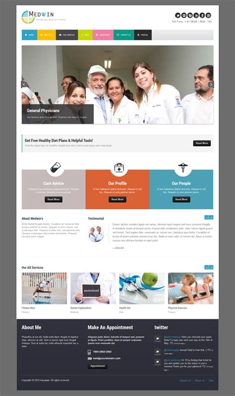 medical wordpress themes for doctors dentists