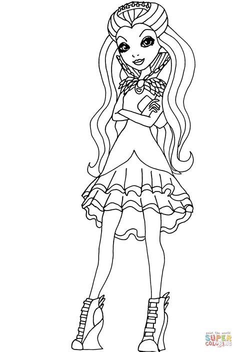 coloring pages ever after high raven queen disegno di ever after high raven queen da colorare