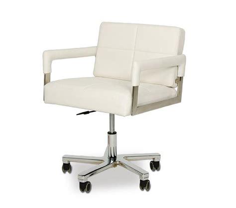 Alaska Furniture by Dreamfurniture Alaska Modern White Leather Office
