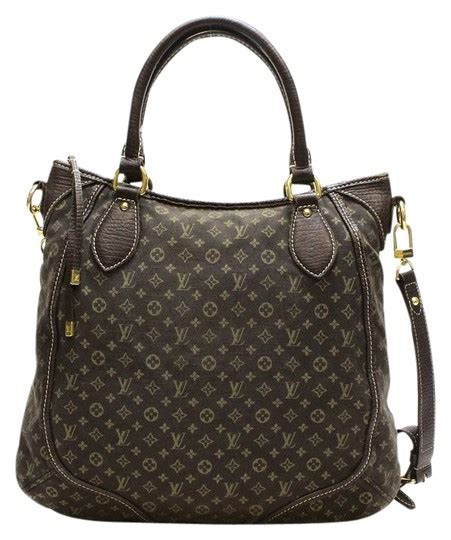 louis vuitton brown monogram canvas leather messenger bag