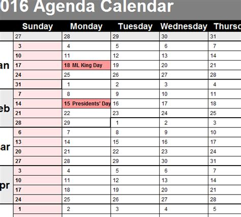 agenda calendar template agenda calendar search results calendar 2015