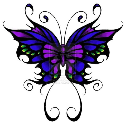 color tribal tattoo designs tribal colored butterfly design