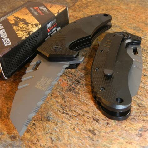 Mtech Box mtech xtreme assisted grey wharncliffe tactical folding pocket knife new ebay