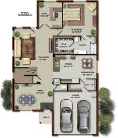 floor plan per level render modern home plans
