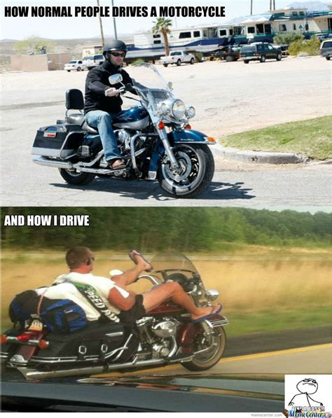 Funny Motorcycle Meme - driving a motorcycle by bilemasukka meme center