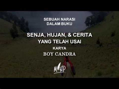 Karya Karya Boy Candra senja hujan yang telah usai karya boy candra suara mihp