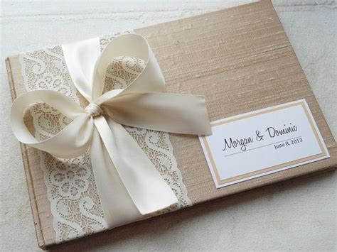 guest book layout design chagne wedding guest book you choose bow color and page