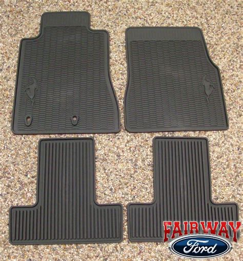 Ford Mustang Mats - 2010 10 mustang oem genuine ford black rubber all weather