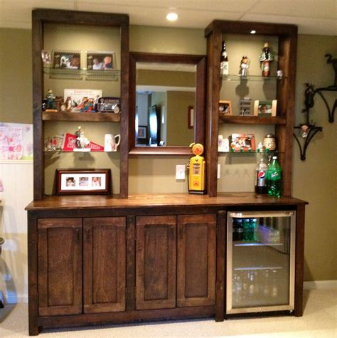 back bar cabinets with sink small nature wood bar cabinet for home decofurnish