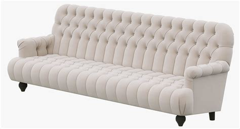 Restoration Hardware 1860 Napoleonic Tufted Upholstered Tufted Upholstered Sofa