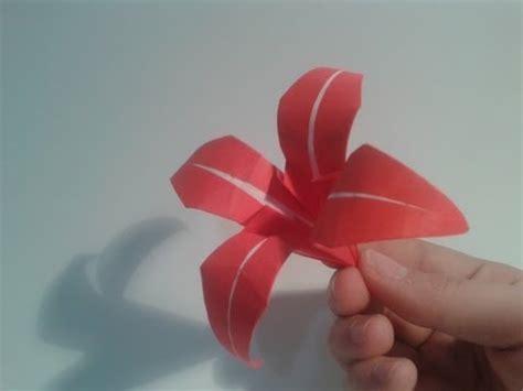 tutorial de origami 3d en español pdf como hacer un lirio de papel flor de origami 91w