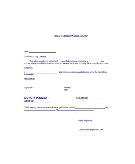 letter template confirming employment