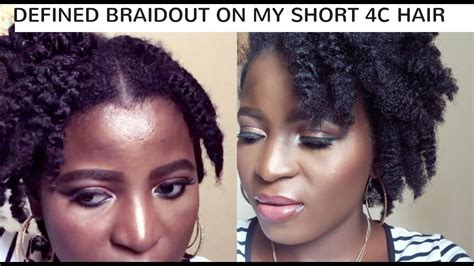 how to tame my 4c short hair defined braid out on short 4c natural hair kenny olapade