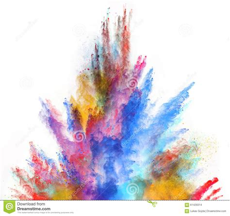 colorful powder wallpaper launched colorful powder on white background stock photo