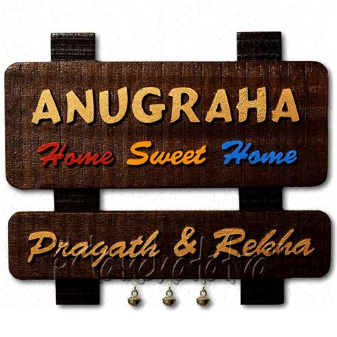 buy home sweet home family name plate in india