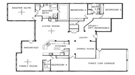 one floor home plans one story floor plans one story open floor house plans