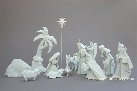 Porcelain Origami Nativity Set - nativity sets