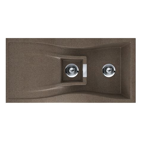 Kitchen Sinks Lowes Shop Houzer 20 In X 39 In Bronze Single Basin Granite Drop In Or Undermount Kitchen Sink At