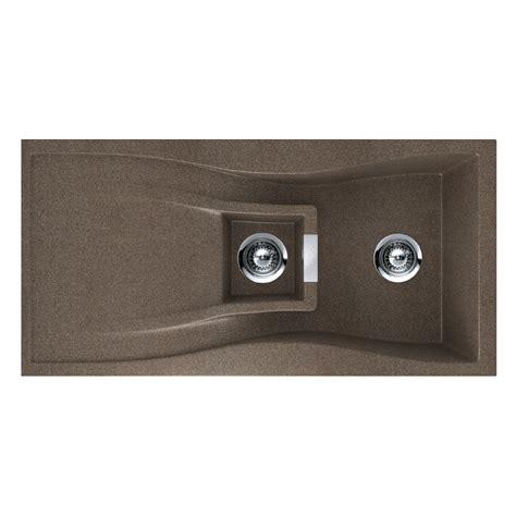 undermount kitchen sinks at lowes shop houzer 20 in x 39 in bronze single basin granite drop