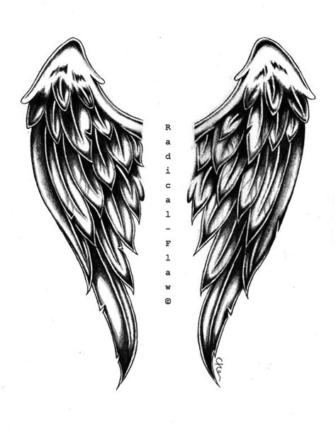 cartoon wing tattoo angel wing drawings angel wings by radicalflaw