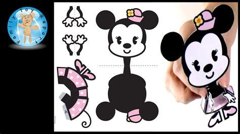 Mickey Mouse Papercraft - minnie mouse cutie disney family 3d papercraft how to
