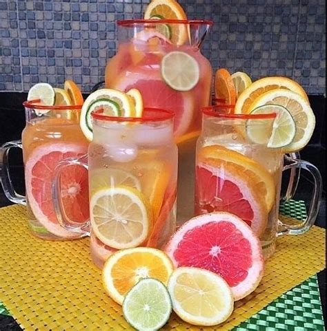 Lemon And Lime In Water Detox by Detox Water Recipes On Quot Grapefruit Lemon Lime