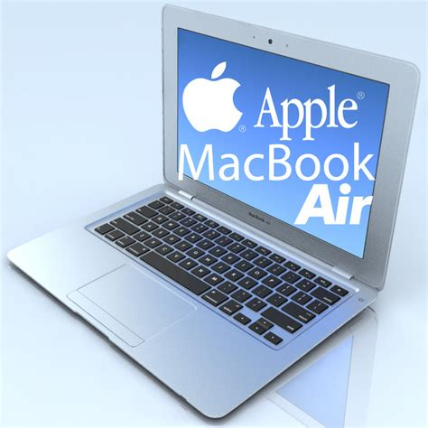 Notebook Apple Macbook Air Md711za A 3d notebook apple macbook air