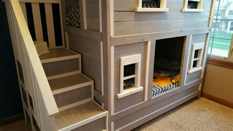ana white sweet pea bunk bed  boys diy projects