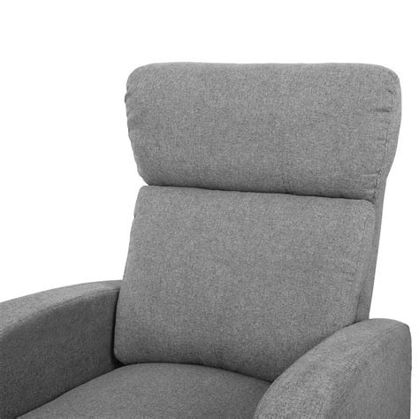 linen armchair buy linen fabric armchair recliner grey online at ikoala