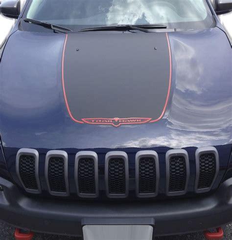 jeep cherokee sticker 2014 2017 jeep cherokee trailhawk black satin vinyl hood