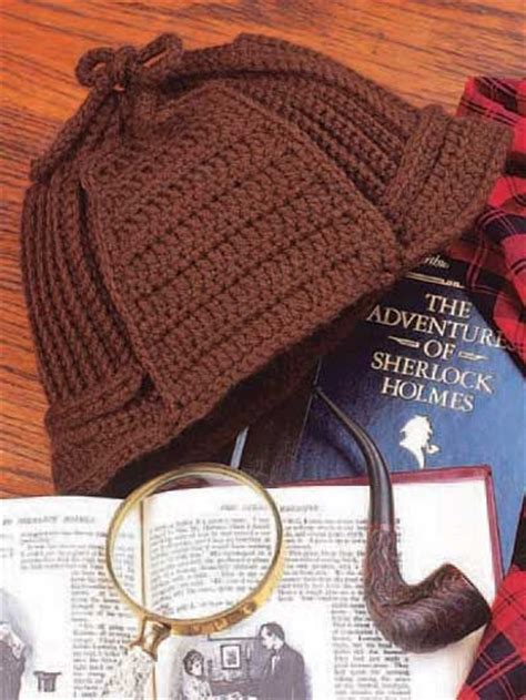 How To Make A Sherlock Hat Out Of Paper - s crochet hat pattern for a deer stalker style with