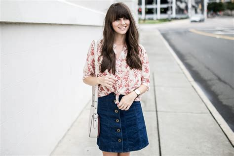 ma fira blouse denim vintage floral anthropologie sale the m a times