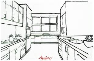 Kitchen Design Sketch by Design Scribblelicious
