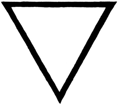 what shape is upstide down triangel upside down triangle symbol