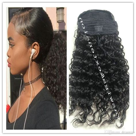 hairstyles for long hair on one piece kinky curly ponytail for black women natural afro curly